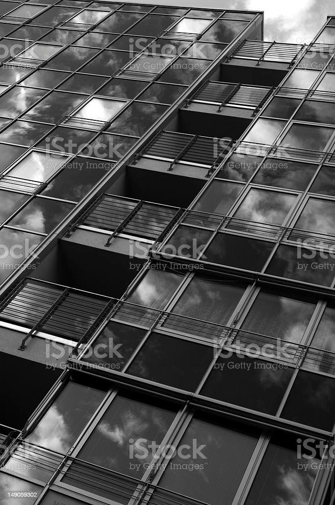 Fassade eines Bürogebäudes (Ausschnitt) stock photo
