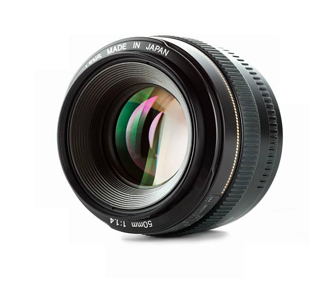 fast 50 mm レンズ、ホワイト - レンズ ストックフォトと画像