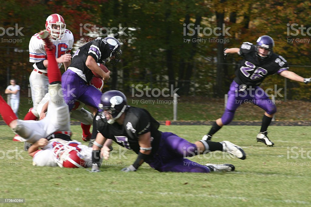 fast action football stock photo