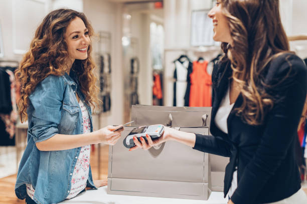 Fast and comfortable shopping stock photo