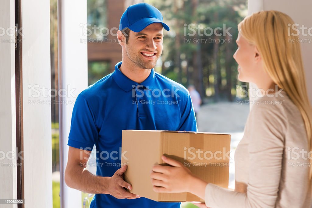 Fast and reliable service. stock photo