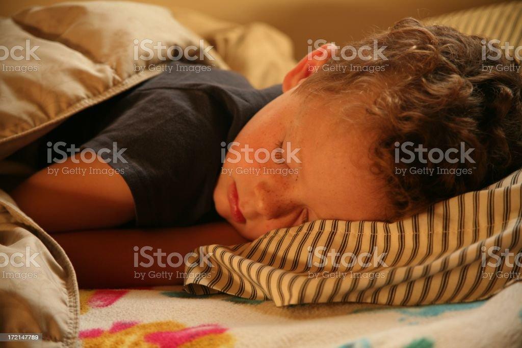 Fast asleep royalty-free stock photo