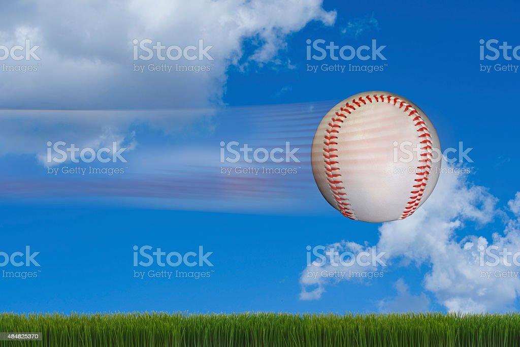 Fast Baseball. stock photo