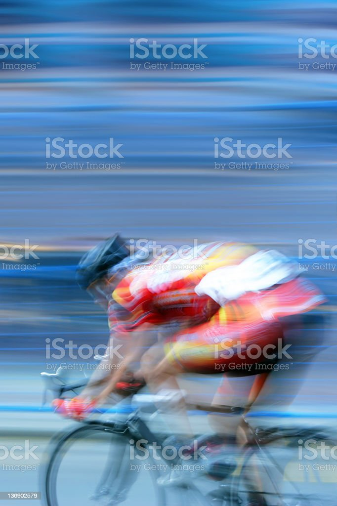 XXL fast bicycle racer stock photo