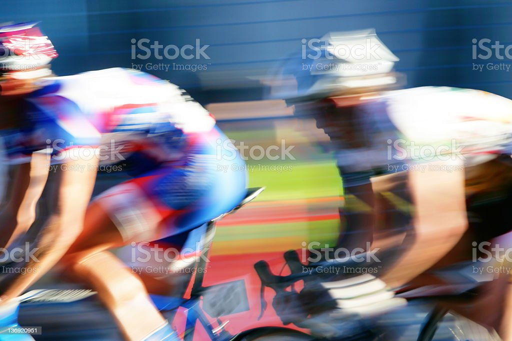 XXL fast bicycle racers royalty-free stock photo