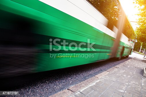 1060957508 istock photo Fast bus in the city traffic at rush hour 471672191