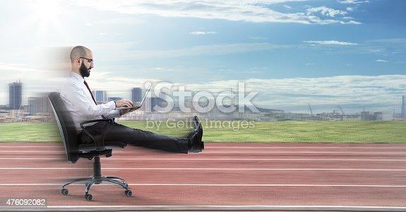 istock Fast business- speedy technology 476092082