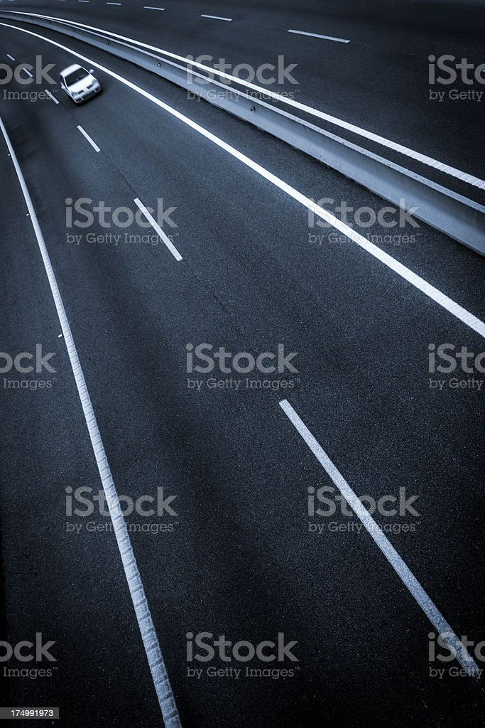 Fast car driving on the highway. royalty-free stock photo
