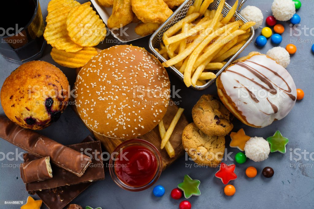 Fast carbohydrates food stock photo