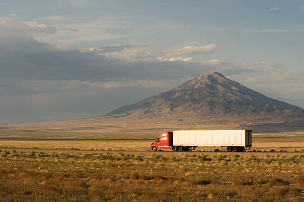Fast delivery across America stock photo