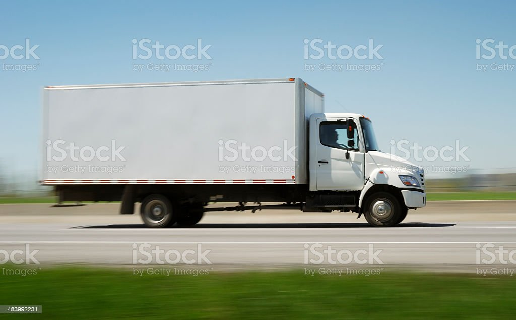 Fast delivery truck stock photo