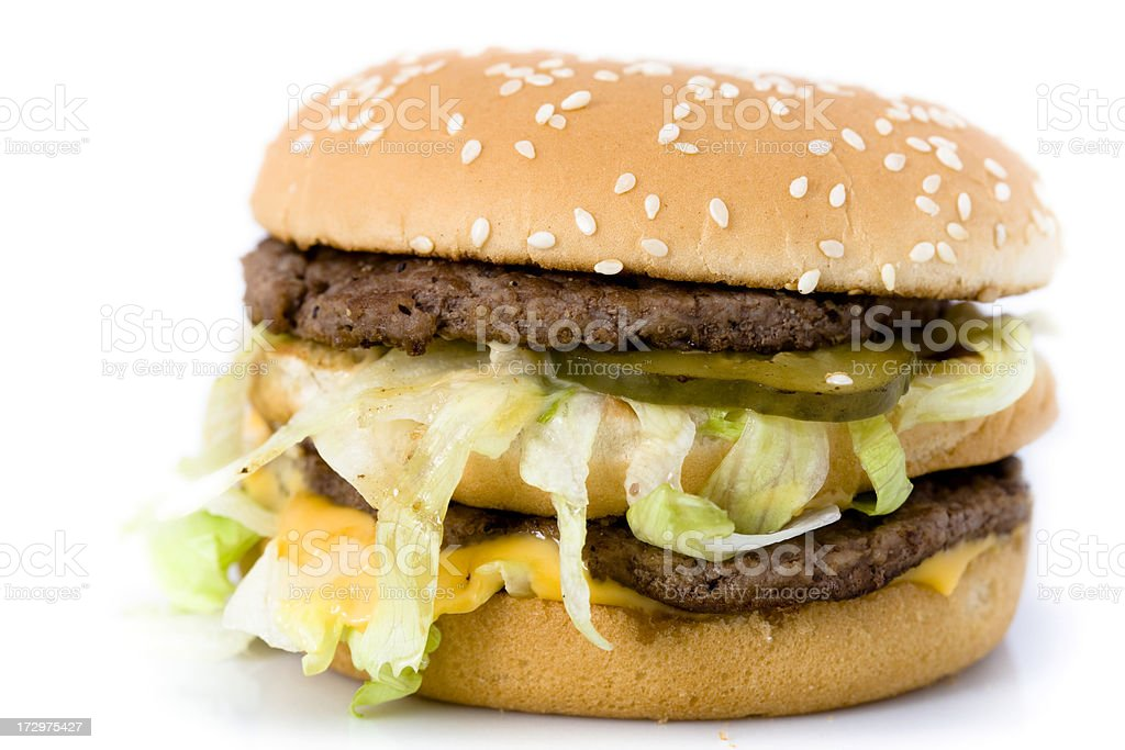 Fast Food Burger stock photo