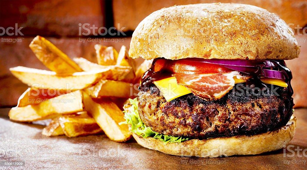 Fast Food - Burger stock photo