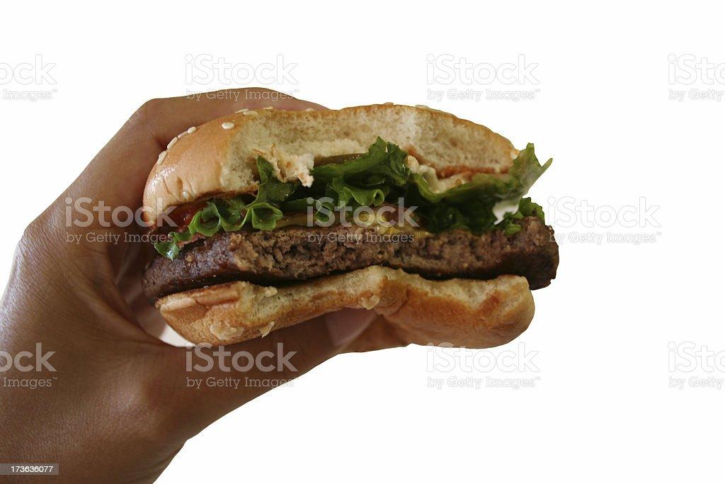 Fast Food Cheeseburger royalty-free stock photo