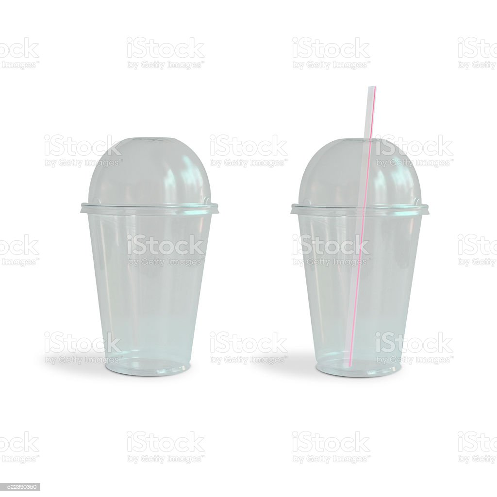 Fast food drinking cups stock photo