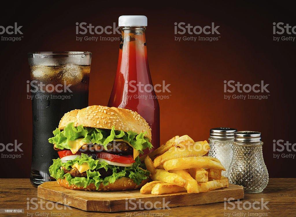 Schnell Essen hamburger Menü – Foto