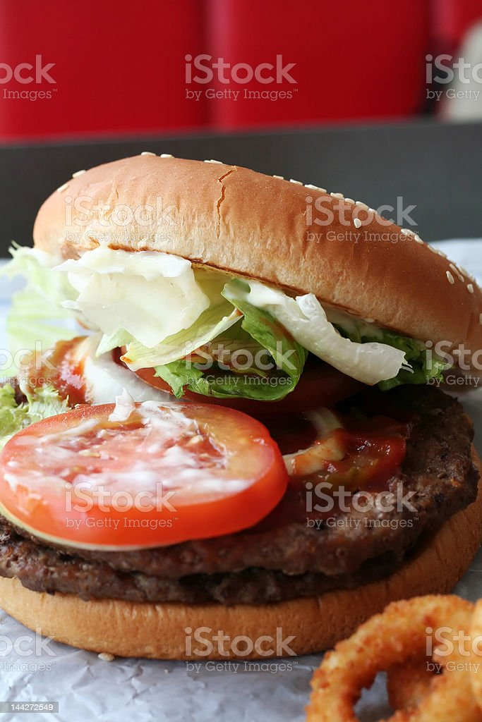 Fastfood hamburger royalty-free stock photo