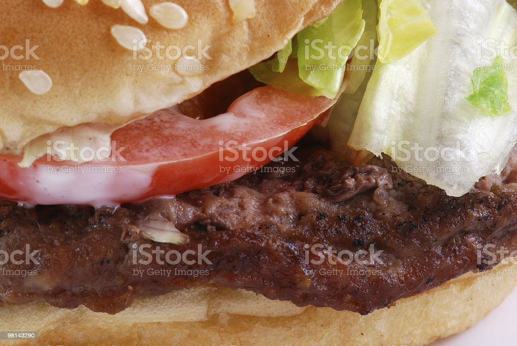 Fast Food Hamburger royalty-free stock photo