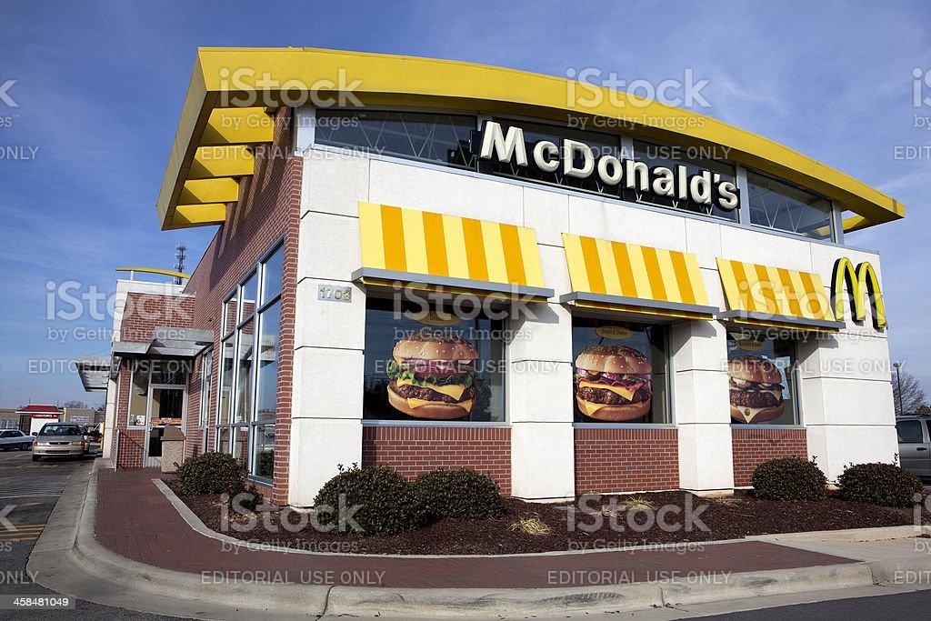 Fast Food Icon McDonalds stock photo