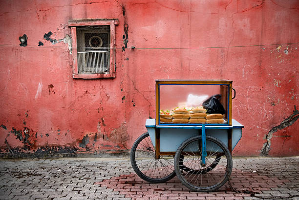 Fast food Istanbul's street stock photo