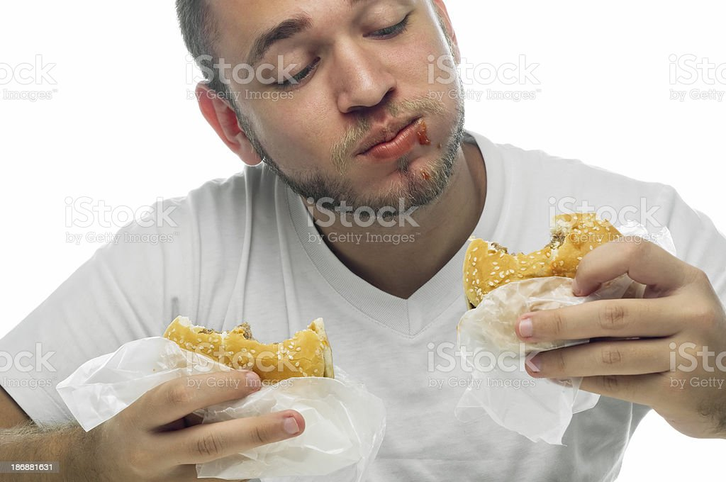 Fast Food Junkie stock photo