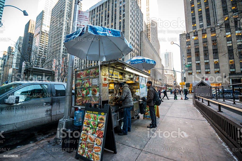Fast Food Kiosk in New York, USA stock photo