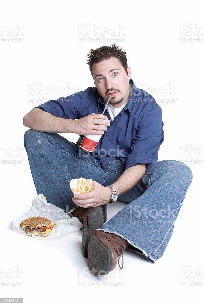 Fast food man royalty-free stock photo