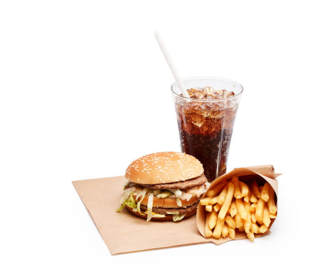 Fast food meal. stock photo
