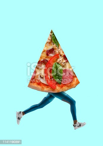 istock Fast food. Modern design. Contemporary art collage. 1141190391