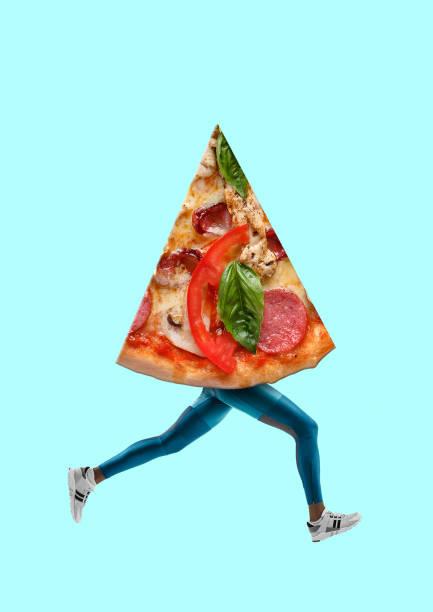 fast food. modernes design. zeitgenössische kunstcollage. - flyer inspiration stock-fotos und bilder
