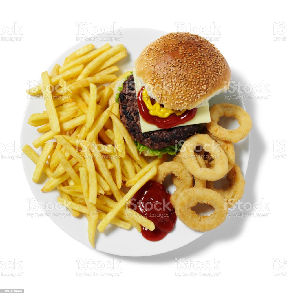 Fast Food on a Plate royalty-free stock photo