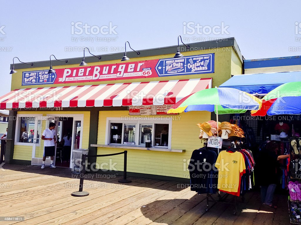 Fast Food Restaurant on Santa Monica Pier royalty-free stock photo