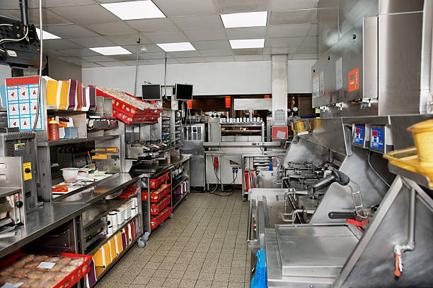 fast food restaurant - fast food restaurant stock pictures, royalty-free photos & images