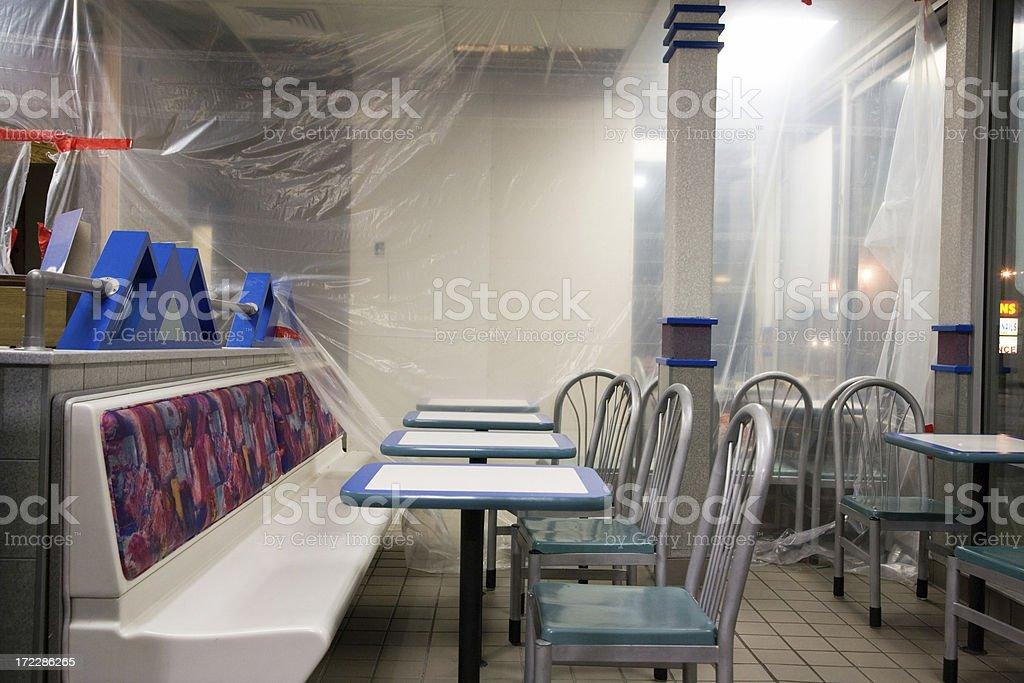 Fast Food ristrutturazione orizzontale - foto stock