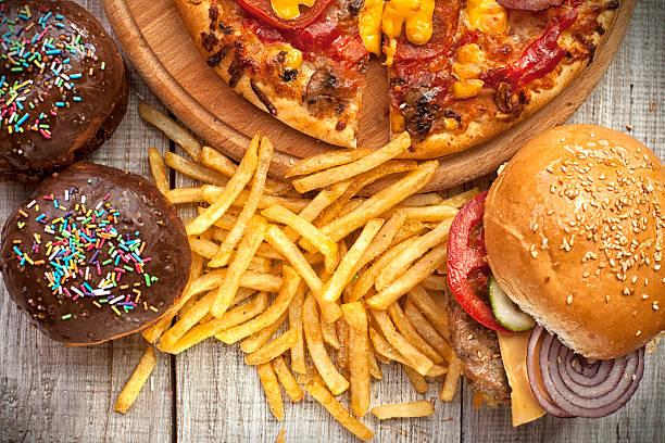 fast food set - 不健康飲食 個照片及圖片檔