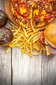 istock Fast food set 475915456