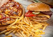 istock Fast food set 475915460