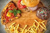 istock Fast food set 476212346