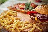 istock Fast food set 476222926