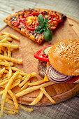 istock Fast food set 476259008