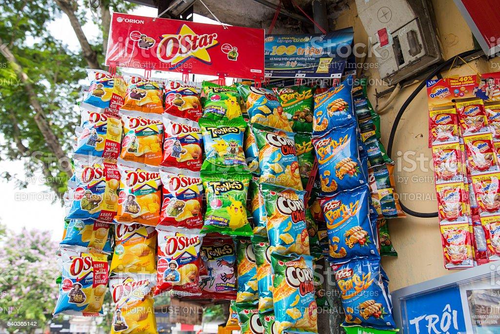 Fast food snacks stock photo