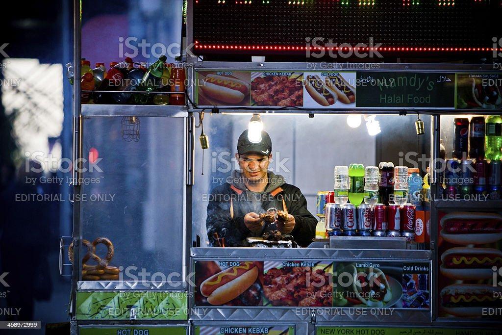 Fast Food Street Vendor, New York, USA stock photo