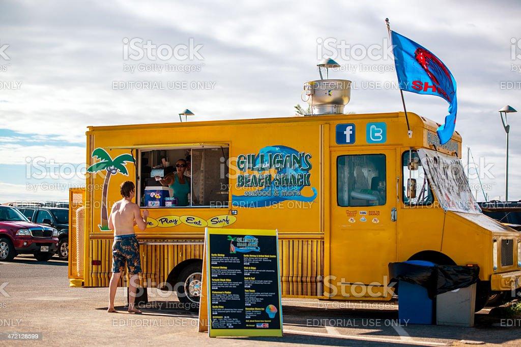 Fast Food Truck on the Hawaiian beach royalty-free stock photo