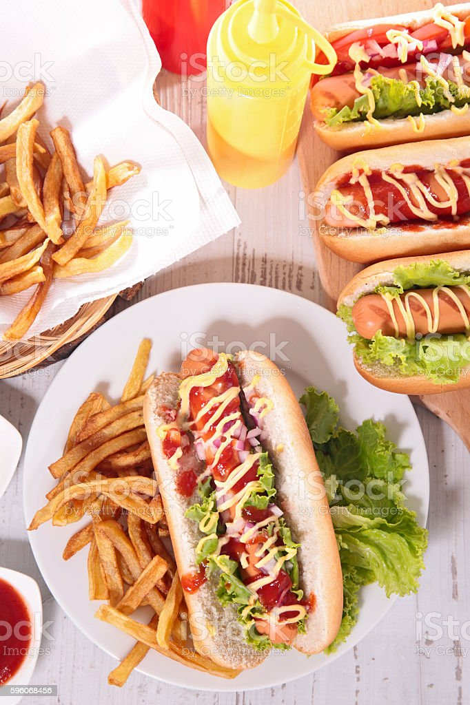 fast food,hot dog royalty-free stock photo