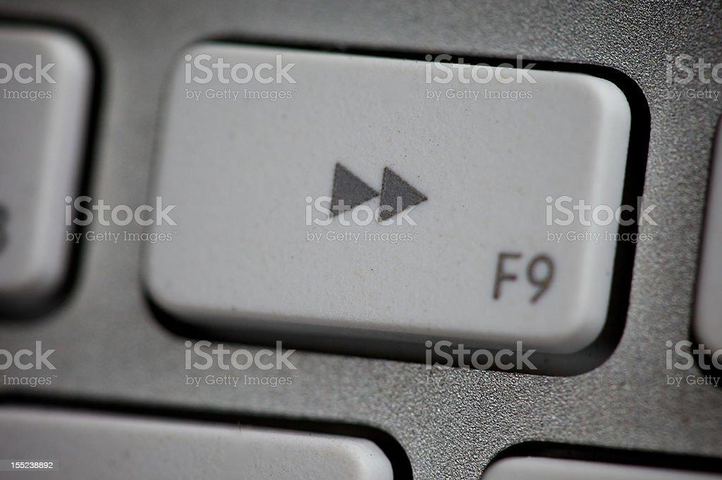 Fast Forward Key stock photo