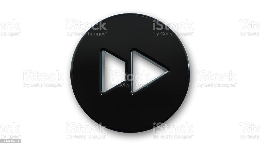 Fast forward symbol on white background stock photo