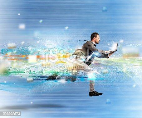 istock Fast internet concept 525502573