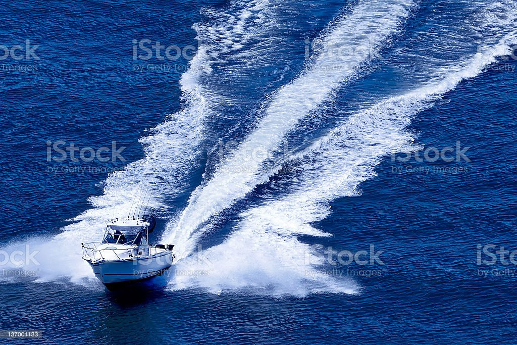 fast motorboat stock photo
