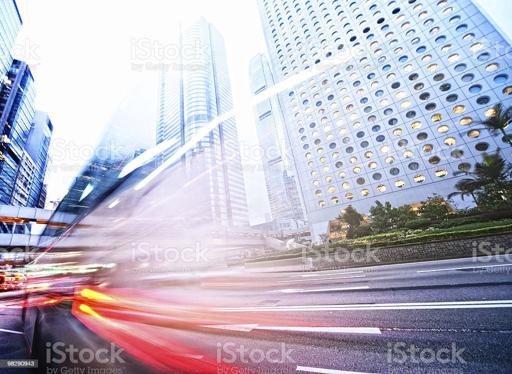 Fast moving bus royalty-free stock photo
