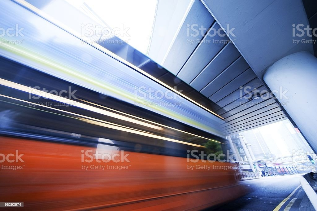 Fast moving car at night royalty-free stock photo